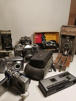 Antique and Vintage to Now Camera Lot. ESTATE find. Lot of 10