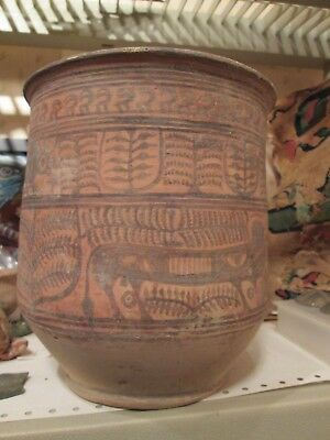 """Indus Valley pot  7 3/16 """" , mouth 6 1/4 """" across NR"""