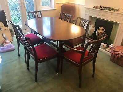 Strongbow Mahogany Oval Dining Table And 6 Chairs
