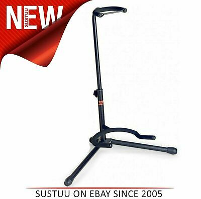 Stagg New SGA100BK Tripod Guitar Stand  With folding Legs & Safety Strip-Black