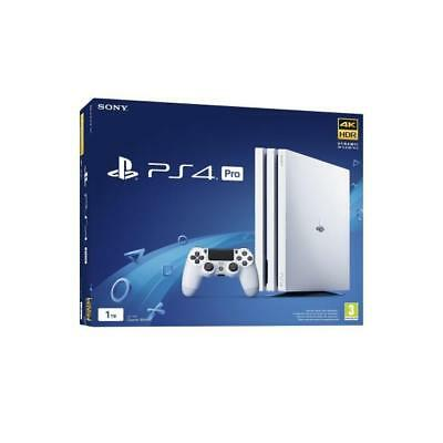 Console Sony Ps4 Pro 1Tb A Chassis White Cuh-7000 4K Ultra Hd Cpu 8 Core Italia