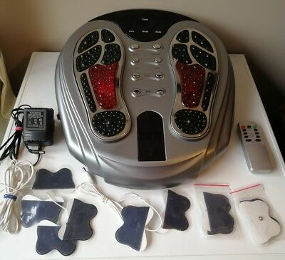 Circulation Muscle Blood Booster Infrared Tens Massager & Pads & Remote Control