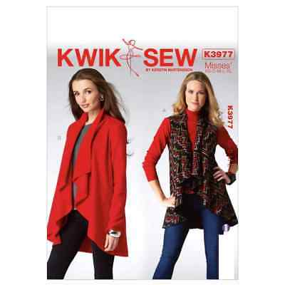 Kwik Sew Sewing Pattern K3977 Misses' Vest and Jacket