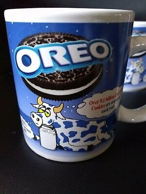 Set of Two Oreo Cookies and Milk Coffee or Cocoa Mugs