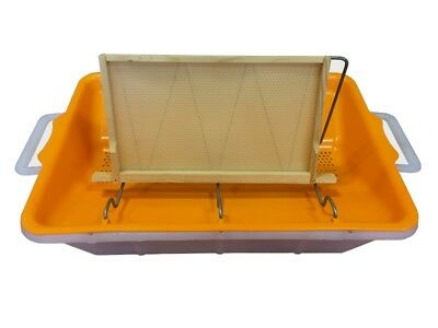 Compact Uncapping Tray, Beekeeping,With Valve & Frame Holder, Extraction, THORNE