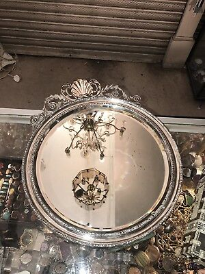 Antique Victorian Sterling Solid Silver Mirror Birmingham 1915 Not For Scrap