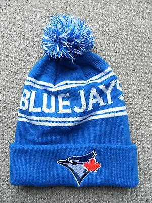 TORONTO BLUE JAYS Bobble Beanie Hat Pompom Baseball Toque by TD Canada