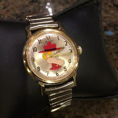Vintage Hamilton Jay Ward Dudley Do-Right Wind Up Watch