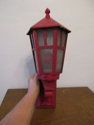 Antique Cast Iron Outdoor Lighting Fixture - Electric Wall Mount Sconce
