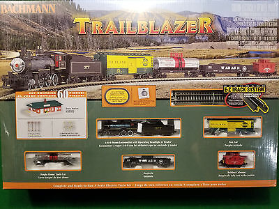 N Scale 60 Piece TRAILBLAZER Complete Ready to Run Train Set Bachmann 24024