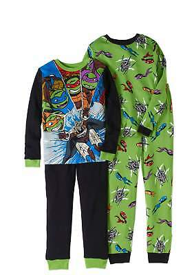 Teenage Mutant Ninja Turtles Boys Knit 4Pc Pajama Set, 100% Cotton size 6