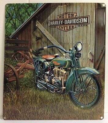Ande Rooney HARLEY DAVIDSON 1923 F-HEAD TWIN Tin Classic Motorcycle Garage Sign