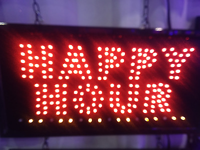 Ultra Bright LED Light Animated Motion with ON/OFF Happy Hour Sign