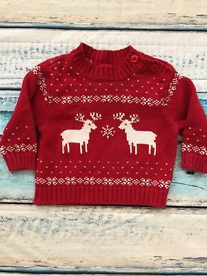 Red Christmas Holiday Sweater 6-9 Months Infant Baby Boy winter xmas girl kids