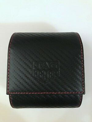 Tag Heuer Leather Rare Travel Storage Watch Case with Red Stitching, New & boxed