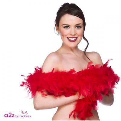 Red Feather Boa 1920s 20s Flapper Adult ladies Fancy Dress Accessory