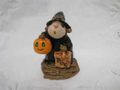 Wee Forest Folk M-044 Witch Mouse Twig Base 1981 - Retired in WFF Box