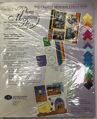 New in Pkg 14 of 34 Creative Memories Paper 10x12 Contemporary Colors