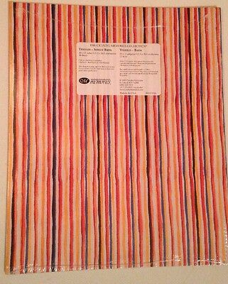 """New in Pkg Creative Memories Rafia Printed 10""""x12"""" Paper Pack 10 Sheets All the"""