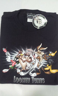 """LOONEY TUNES """"CLASSIC COLLECTION"""" T-SHIRT 1997/98 *NEW + TAG*  Size XL – BLACK"""