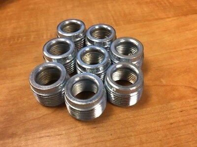 "Rb7550 - Lot Of 8 - Reducing Bushing, Threaded, 3/4 X 1/2"", New"