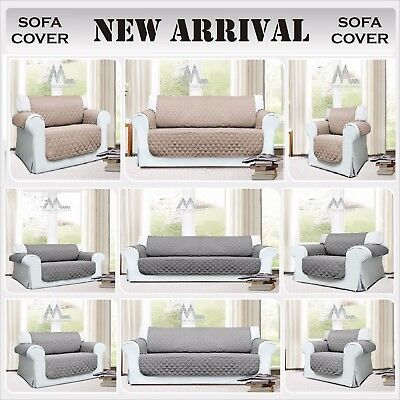 Sofa Protector Throw Slip Cover Dog Cat Pet Waterproof 1/2/3 Seater_Uk Fast