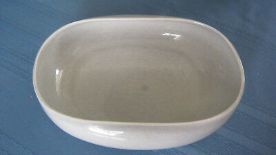 Russel Wright Steubenville American Modern Grey Oval Serving Bowl