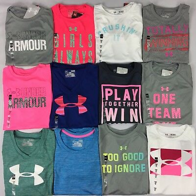 Girl's Youth Under Armour Heatgear Loose Fit Polyester Shirt