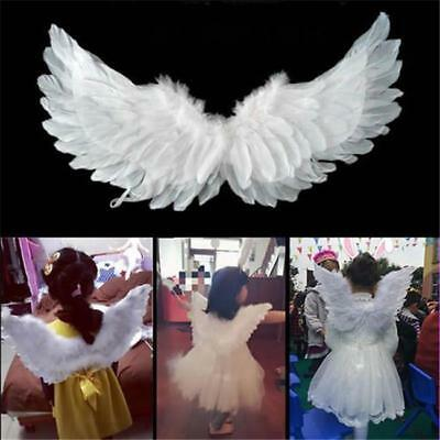 Infant Towddler Baby Feather Angel Wings Photo Props Halloween Costume Dress - L