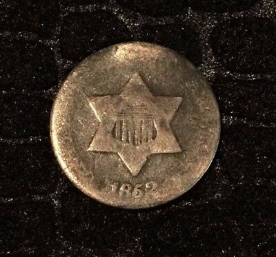 1852 Three Cent Silver - AG