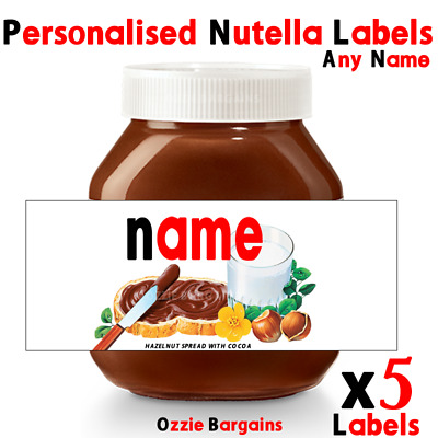 X5 Nutella - Personalised Nutella Labels - Make your own label - 220g / 400g  -