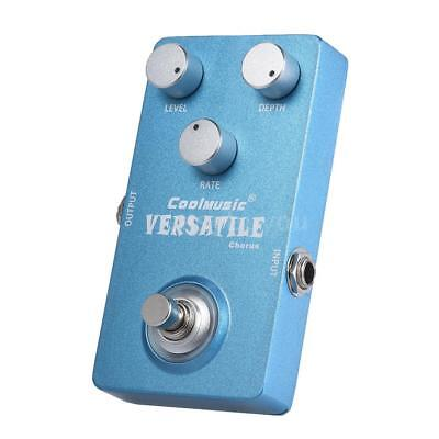 Electric Guitar Analog Chorus Effect Pedal True Bypass Full Metal Shell New Y3A6