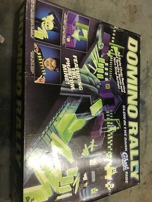 Vintage DOMINO RALLY Glow-In-The-Dark Ghost Ride Set (1991)