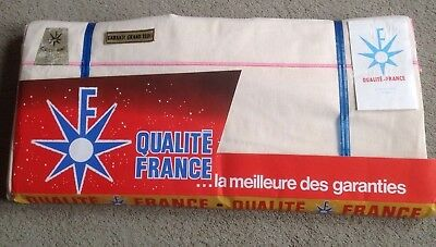 Pair Of Unused  Large Vintage French Linen  Sheets  220 X 310Cm