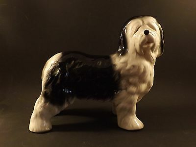 MELBA WARE CHINA ~ OLD ENGLISH SHEEP DOG FIGURINE ~ 18.5 cms  x  19.5 cms