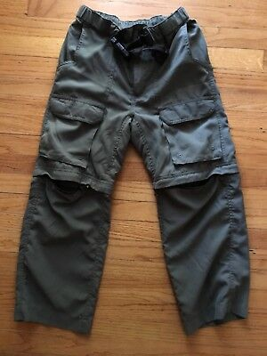 BOY SCOUTS OF AMERICA Youth MED Uniform Pants /Shorts Cargo switchback BSA Green