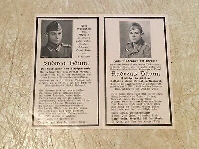 RARE BROTHER DEATH CARD WW2 German 1943 Eastern Front Russia & Hungary 4 panel