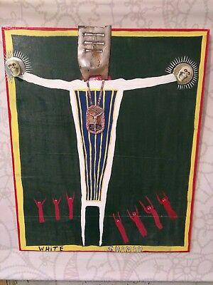 WHITE SHAMAN Outside Abstract Folk Art Blues Primitive W. D. HARDEN