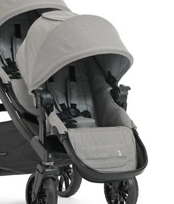 Baby Jogger City Select LUX Stroller Second Seat with Adapters, Slate gray