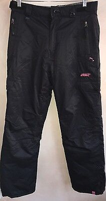 No Fear Ski Trousers Black With Pink Size 10<NH3042