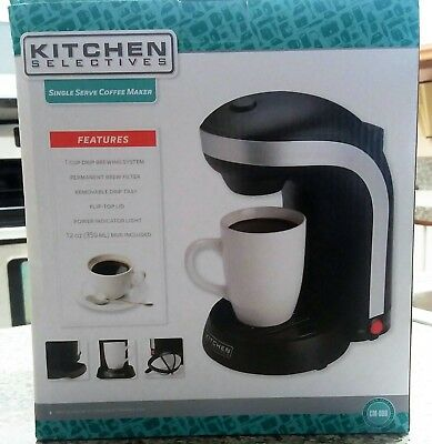 Kitchen Selectives Cm 688 1 Cup Single Serve Drip Coffee Maker