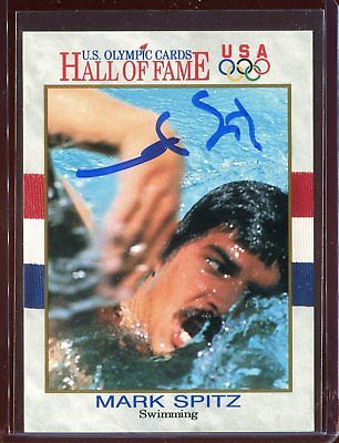 Mark Spitz Olympic Swimmer USA Hall of Fame Signed Authentic Autograph Auto *1