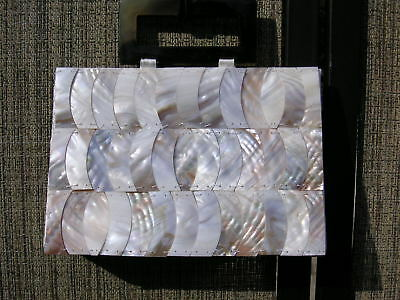 Lovely Mother of Pearl Dressy Purse w/faux Tortoise Shell Handles