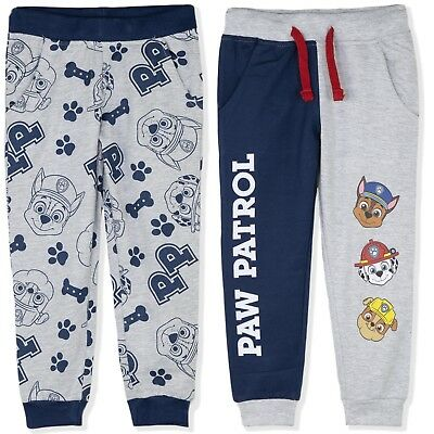 Paw Patrol Chase Boys 100% Cotton Trousers Joggers Bottoms Sweat Pants 2-8 years