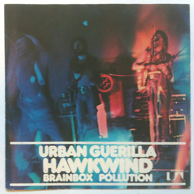 "HAWKWIND. Urban Guerilla 7"" 0RIGINAL 1973 GERMAN UNIQUE SLEEVE! (Motorhead) {Fi}"