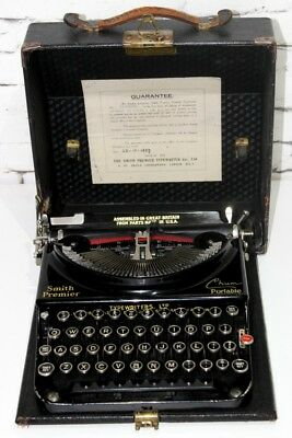 1937 Vintage ​Smith Premier Chum Portable Typewriter - FREE Shipping [PL4072]