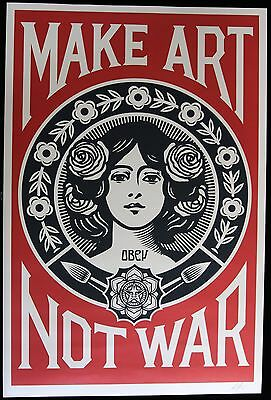 Shepard Fairey ♦ Make Art Not War ♦ Litho Offset Signee Obey Giant Mint
