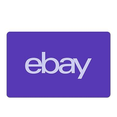 eBay Digital Gift Card - $5 to $200 - Fast Email Delivery