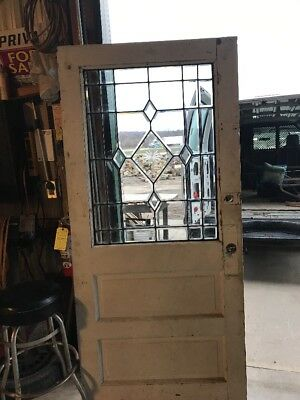 An 416 Antique Beveled Glass Entrance Door 35 And Three-Quarter By 78.25