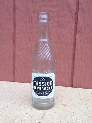 Old Vintage Mission Orange Soda Pop Bottle Glass Hillsboro Oregon 1940's